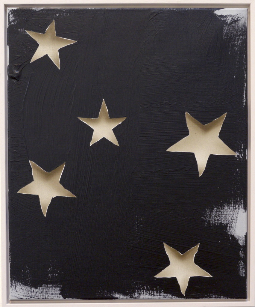 LH13 untitled 2 (stars) acrylic on linen 45 x 55cm
